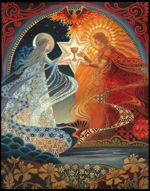 Fantana iubirii, crucea de lumina, Graalul